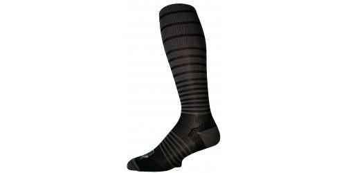 CHARCOAL BLACK STRIPES compression socks