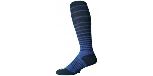 DARK BLUE STRIPS ELECTRICAL BLUE compression stockings