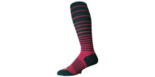 BLACK & RED STRIPED compression socks